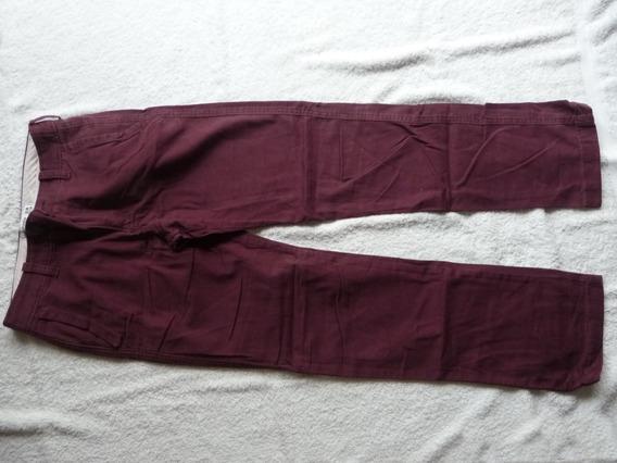 Pantalón Abercrombie&fitch Bordó Para Niños/adolescentes