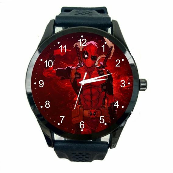 Relógio Deadpool Feminino Marvel Ucm Quadrinhos Novo Fc T879