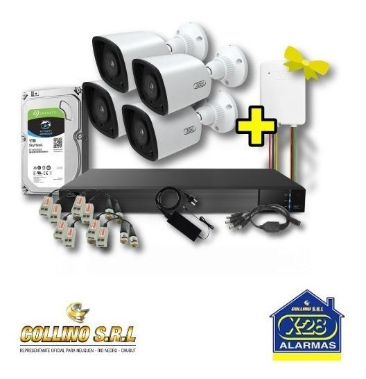 Kit 4 Cámaras X-28 1080 Dvr 8ch Hdd 1tb + Fuentes Y ¡regalo!