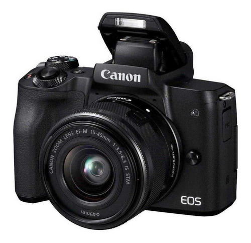 Canon EOS M50 15-45mm IS STM Kit mirrorless cor preto
