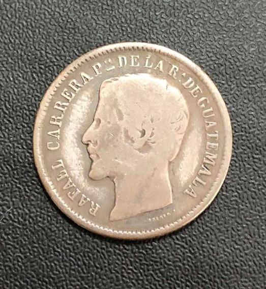 Moeda Antiga 1 Real 1864 R Guatemala