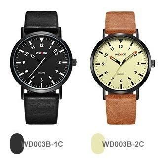 Relógio De Pulseira De Couro Weide Wd003 Original