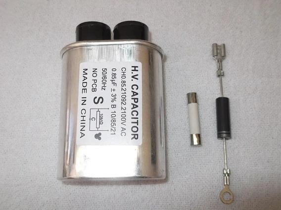 Capacitor 85uf+diodo+fusível+chave Swit Microondas Eletrolux