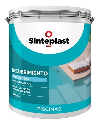 Imagen 1 de 4 de Recuplast Pintura Piscina Acuosa 10 Lts Blanco Sinteplast