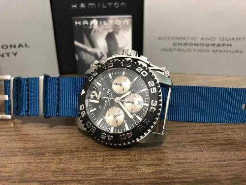 Relógiohamilton - Khaki Chronograph Automatic - Ref. H635160