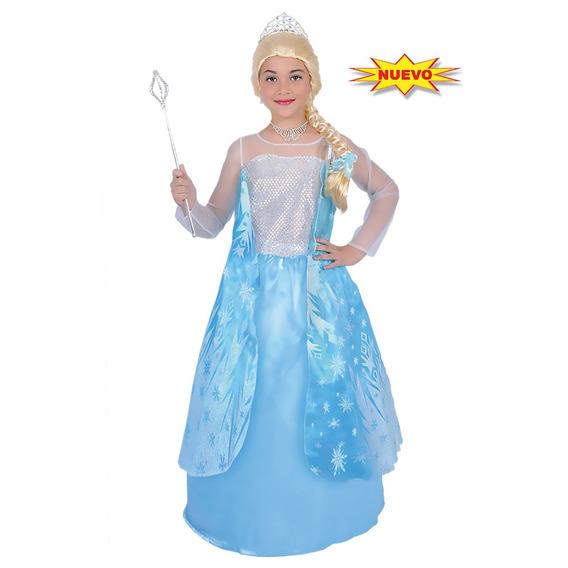 Disfraz Niña De Princesa Elsa Frozen