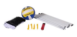 Kit Volei 8 Peças C/ Bola E Mastros Bel Sports