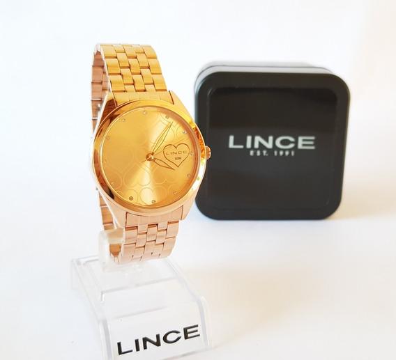 Relógio Lince Feminino Rose Lince Original Luxo Lrr4481l