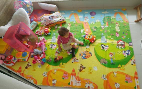 Tapete Atividades Infantil Jolitex Dupla Face Novo 2 X 1,5m!