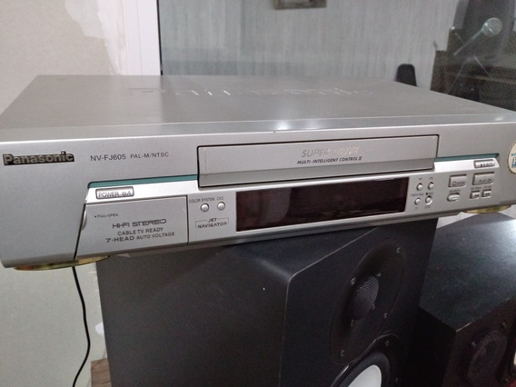 Video Cassette 7 Cabeças Hifi Stereo Panasonic Nv-fj605