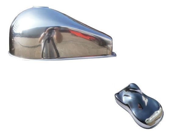 Tinta Cromo Efeito Cromo 500ml Rodas Carro Moto Acessorios