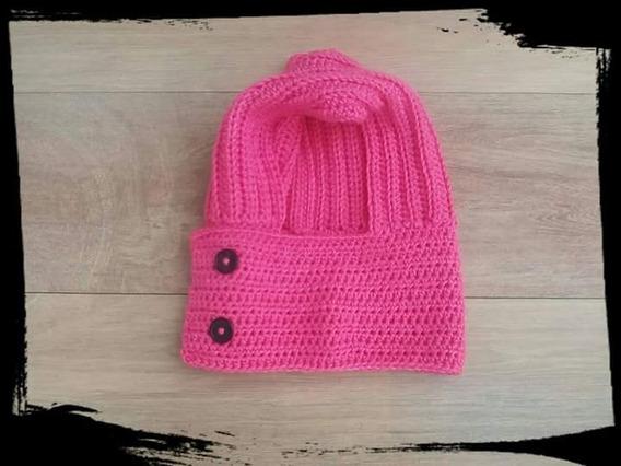 Gorro Capucha Tejida A Crochet Artesanal