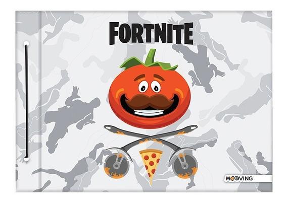 Carpeta Escolar Dibujo N 5 Tapa Mooving Fortnite Ps4 Xbox Pc