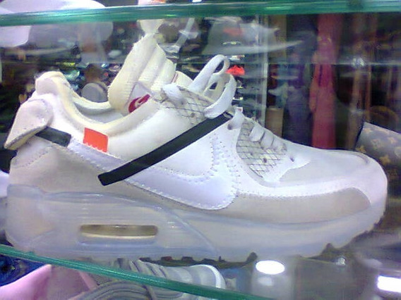Tenis Nike Air Max 90 Off White Creme E Preto Nº42 Original