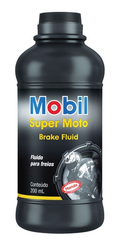 Imagen 1 de 3 de Líquido De Frenos Mobil Super Moto 200ml
