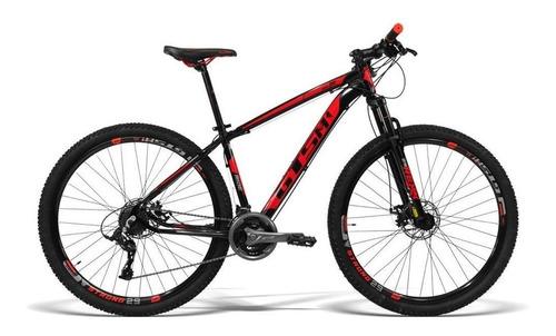 "Mountain bike GTSM1 Ride New TSI aro 29 19"" 21v freios de disco mecânico câmbios GTSM1 TSI cor preto/vermelho"