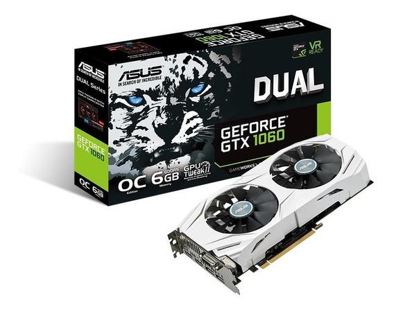 Placa de vídeo Nvidia Asus GeForce GTX 10 Series GTX 1060 DUAL-GTX1060-O6G OC Edition 6GB
