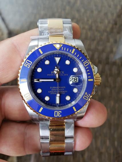 Relógio Rolex Submariner Prata/blue/gold Premium (promoção)