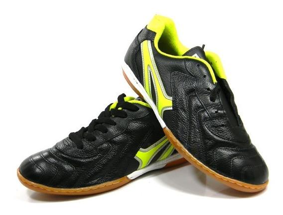 Tenis Mathaus Veneza Futsal Couro Pto/amr Tam: 37 Ao 44