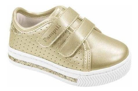 Tenis Pampili 476.002 Dourado Calçados Bola7