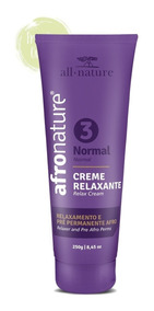 Creme Relaxante Amônia Afronature Normal Nº3 250g All Nature