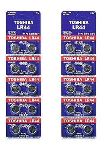 Imagen 1 de 3 de Toshiba Lr44 Ag13 Pilas Alcalinas 15 V X20