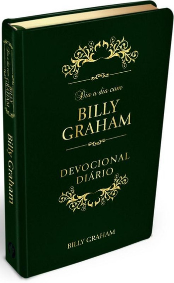 Dia A Dia Com Billy Graham - Couro Verde - Rbc