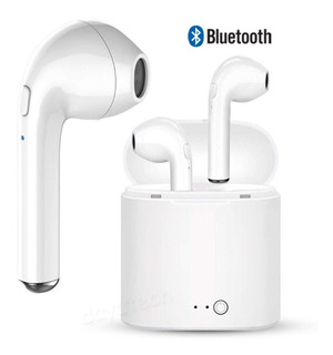 Auriculares Bluetooth Inalambricos I7s 5.0 Tws Inear Base Recargable - Para Android Y iPhone - Microcentro
