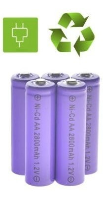 Baterías Recargables Aa Nicd 2800mah 1.2v