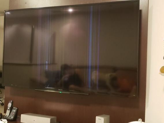 Tv Led Sony Bravia 60 Com Tela Danificada