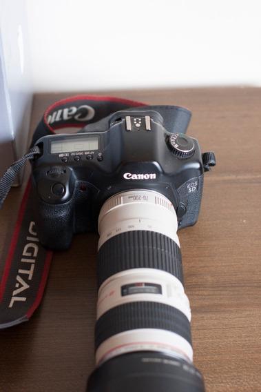 Camera 5d Classica Com Lente Canon 70x200