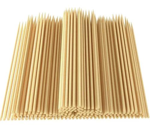 Palo Brochetas Bambú 100 Unidades 30 Cm