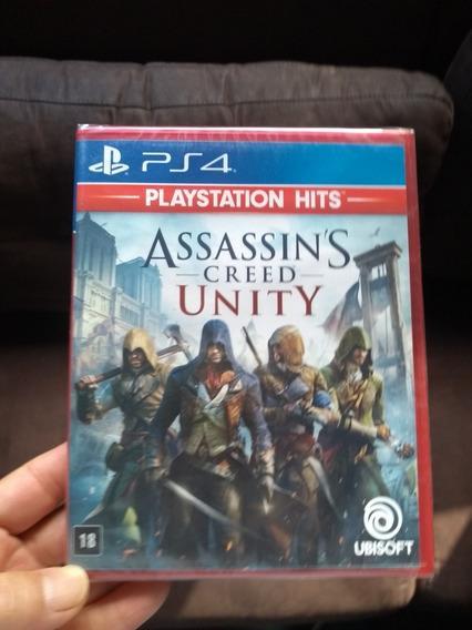 Assassins Creed Unity Ps4 Mídia Física Lacrado Em Português