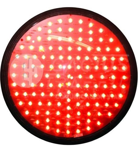 Imagen 1 de 2 de Lámpara De Semáforo Led Mica Transparente 30 Cm Color Rojo