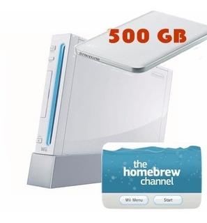 Nintendo Wii + Disco De 500gb Con 340 Juegos!!!