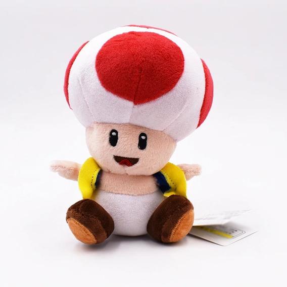 Toad Cogumelo De Pelucia 16 Cm 4 Cores / Mario - Nintendo
