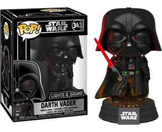 Funko Pop Darth Vader Con Sonido Y Luces Star Wars # 343 *