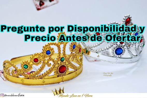Corona De Princesa Plástica Dorado