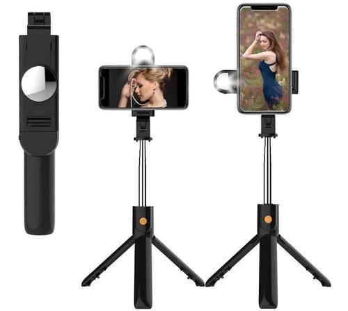 Imagem 1 de 3 de Tripé Bastão Selfie Stick Lives 360 Luz Led 2 Níveis P60d
