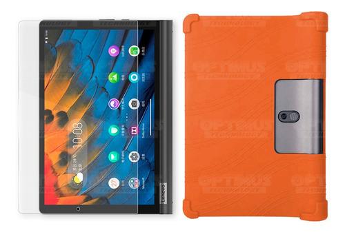 Cristal Y Estuche Goma Tab Lenovo Yoga Smart Tab Yt-x 705f
