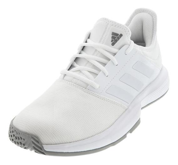 Tenis Original adidas Gamecourt Blanco Caballero Eg2008