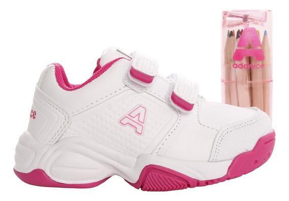 Zapatillas Addnice Baby Classic Beta Abrojo + Lapicero Bl/fu