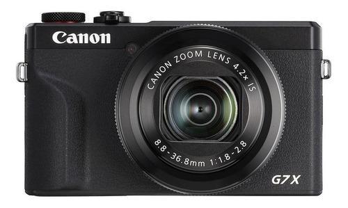 Imagem 1 de 4 de Canon PowerShot Serie G G7 X Mark III compacta avançada cor  preto