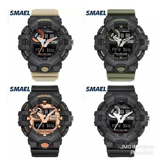 4 Relógios Masculino Esportivo Militar Shock Smael Ws1642-8
