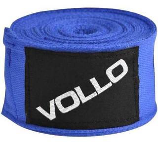 Bandagem Elástica 3m Para Artes Marciais Azul Vollo Vfg137