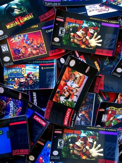 Label Snes, Super Nintendo, Adesiva , Caixa Super Mario