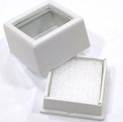 Kit 5 Caixas Plásticas P/ Pedras Lapidadas Jóias Visor Vid