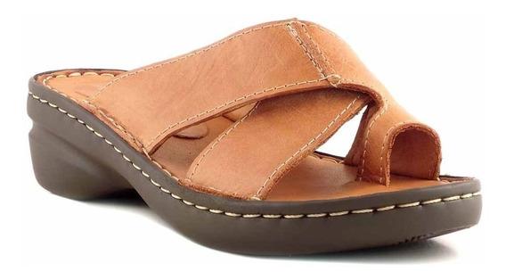 Sandalia Chinela Mujer Cuero Briganti Zapato Goma Mcch26056