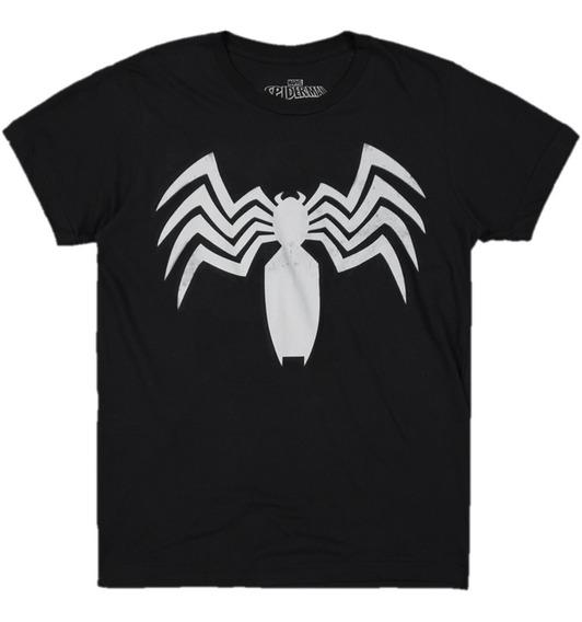 Playera Venom Logo Mascara De Latex Marvel 2
