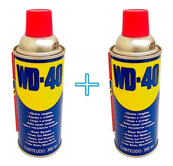 Kit Com 2 Spray Wd-40 Multiuso Para Carro Casa Limpa Protege